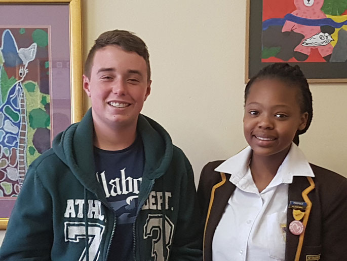 Riordan Duncan and Nandipha Sikhupela - 1st and 2nd in District, 2nd and 3rd in Gauteng East Math Challenge